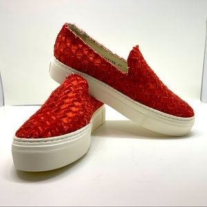 AGL Woven D925128 Sneaker in Red Size 7